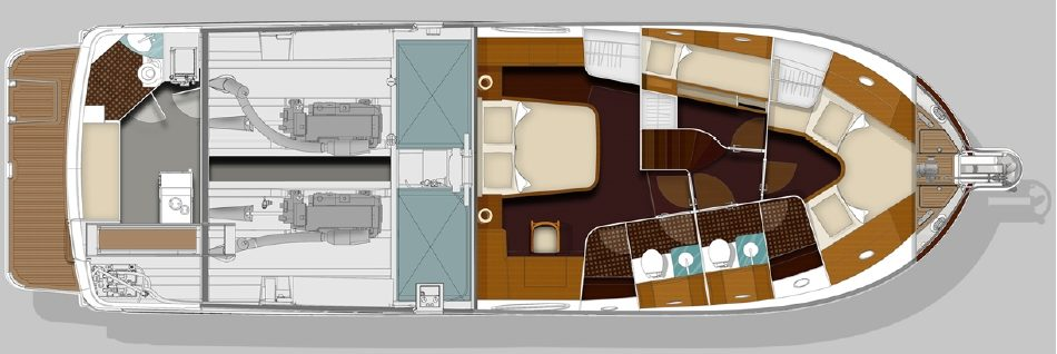 Brokerage Swift Trawler 52 layout