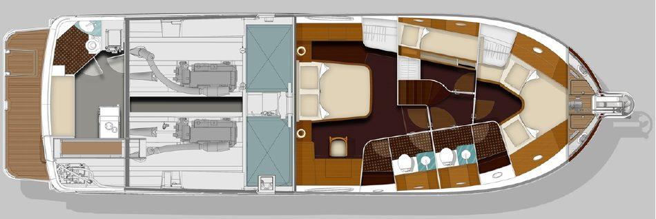 Brokerage Swift Trawler 52 layout