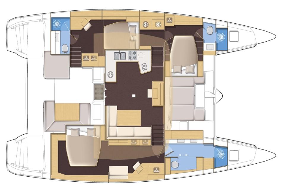 Lagoon52 S layout