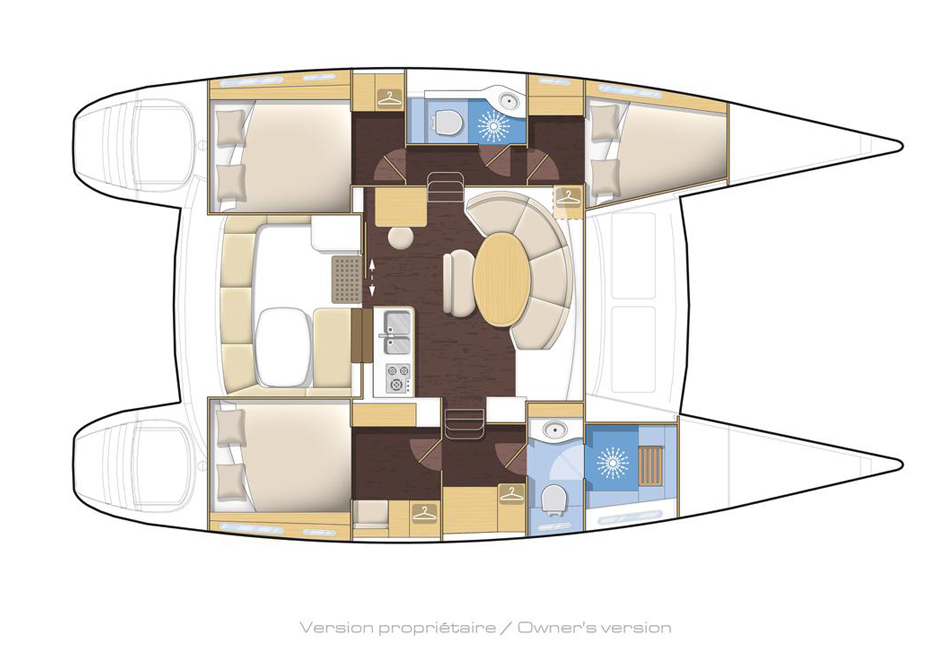 catamarans 380 layout