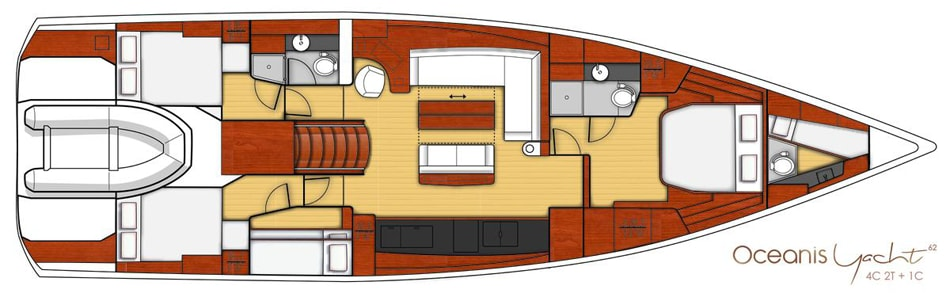 oceanis yacht 62 layout